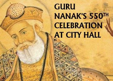 Guru Nanak S 550th Birthday Celebration At City Hall Icici Bank Nri Engage India Connect